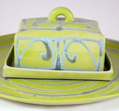 ceramic butter dish by Lori Goldstein