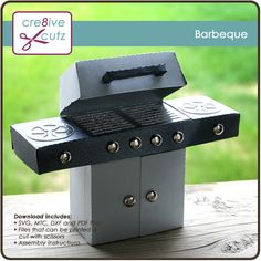 Cute 3D paper BBQ for Father's Day or 4th of July