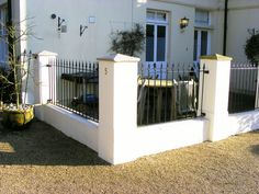 Railings for wall in tunbridge wells Garden Railings, White Gardens, Wrought Iron, Brick, Wall, Outdoor Decor, Tunbridge Wells, Fences, Bing Images
