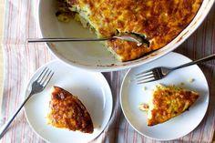 leek, ham and cheese egg bake