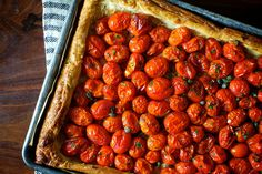Herbed Tomato and Roasted Garlic Tart (from Smitten Kitchen)