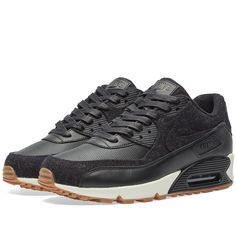 Buy the Nike Air Max 90 Premium in Black & Sail from leading mens fashion retailer END. - only Fast shipping on all latest Nike products Air Max Sneakers, Sneakers Nike, Air Max 90 Premium, Cute Swag Outfits, Air Jordan Shoes, Men S Shoes, Gym, Me Too Shoes, Nike Air Max