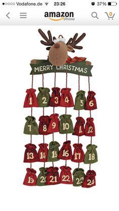 Idee calendario avvento Christmas Decor Diy Cheap, Homemade Christmas Decorations, Christmas Tree Crafts, Christmas Projects, Christmas Holidays, Merry Christmas, Felt Advent Calendar, Christmas Calendar, Kids Calendar