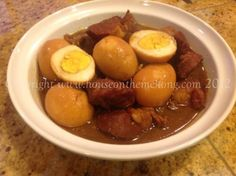 Salaw caw with pork and eggs