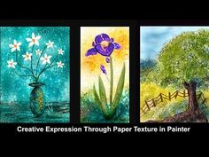 Creative Texture in Watercolor Paintings  - Painter 2016 Tutorial by Win...