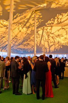 one clear tent and 1 white- with tree/leaf projection on ceiling...cool