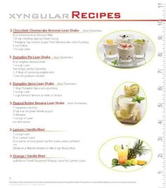 Xyngular Sensation Ignite  Day Sample Menu  Healthy