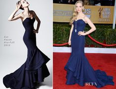 Amanda Seyfried In Zac Posen – 2013 SAG Awards | Red Carpet Fashion Awards looks at the model.