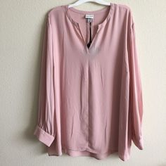 dc624e7742f Ava and Viv Pink Womens Popover Blouse Plus Size 4x Brand New with Tags   AvaViv