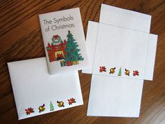 Make a custom mini greeting card and coordinating envelope at dltk symbols of christmas printable minibook at christianpreschoolprintables look for the menu titled m4hsunfo