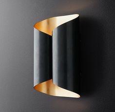 Selfoss Sconce Interior Lighting, Modern Lighting, Lighting Design, Element Lighting, Single Sheets, Restoration Hardware, Wall Sconces, Design Elements, Luxury Homes