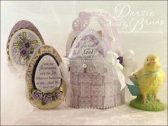 Justrite Easter Basket with JustRite Easter Eggs designed by Darsie Bruno.
