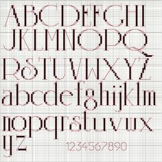 Beautiful FREE cross stitch font!