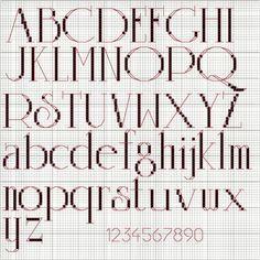 Beautiful FREE cross stitch font!