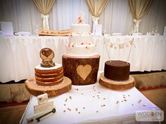 21 best Rustic Wedding Cake Stands images on Pinterest | Country ...
