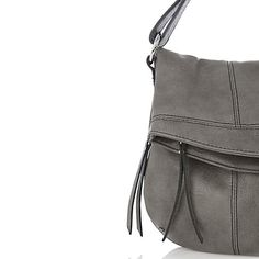Buy Oasis Saskia Foldover Satchel Bag, Mid-Grey Online at johnlewis.com