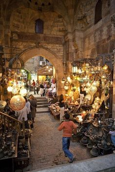 Khan el-Khalili (Arabic: خان الخليلي‎) is a major market in the Islamic district of Cairo. The bazaar district is one of Cairo's main attractions for tourists and Egyptians alike. dates back to 1382, when Emir Djaharks el-Khalili built a large caravanserai (خان khan in Arabic) in Cairo under the Burji Mamluk Sultan Barquq; the eponymous khan is still extant.