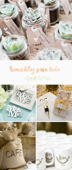 10 Ideas de Recuerdos para los invitados de la boda | El Blog de una Novia | #recuerditos #boda