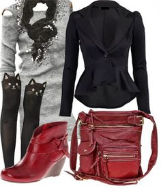 Cool Winter fall outfit with bootie 2013 ~ New Women's Clothing Styles & Fashions don't know about the kitten thigh highs?
