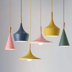 Modern Nordic Pendant Lights Iron Lampshade Wood LED Hanging Lamp - All For House İdeas Ceiling Light Design, Ceiling Lamp Shades, Ceiling Lamps, Ceiling Light Fixtures, Pendant Light Fixtures, Lampe Art Deco, Boho Home, Pipe Lamp, Pendant Lighting