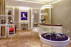 Wellendorff jewellery boutique by Stefano Tordiglione Design, Hong Kong Jewellery Shop Design, Jewellery Display, Jewelry Shop, Jewelry Stores, Interior Concept, Interior Design, Store Interiors, Lounge Decor, Boutique Design