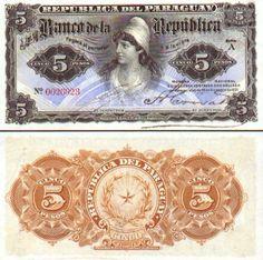 Paraguay 5 Pesos L.1907 (female)