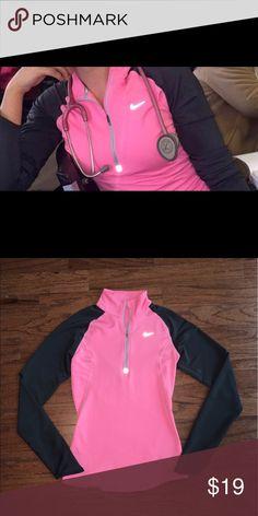 Nike Dri-Fit 3/4 pull over Pink/Gray XS Nike Dri-Fit 3/4 cute pull over Nike Tops Sweatshirts & Hoodies