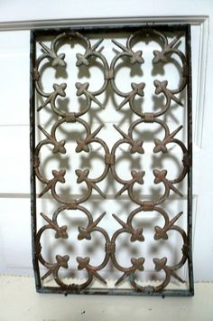 Resvd Vintage Grate Architectural Salvage Metal Grate