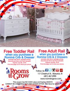 Exclusive Specials at Rooms to GrowRooms To Grow