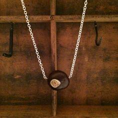 Buckeye Necklace  Ohio State University by foxdesignsjewelry, $20.00