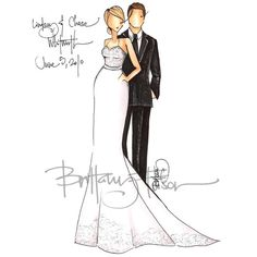 Brittany Fuson Paper: Custom Bridal Illustrations | The Budget Savvy... ❤ liked on Polyvore
