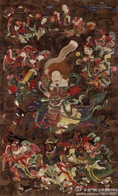 九天应元雷声普化天尊 雷祖 Ancestor Thunder, who resides above the Nine Heavens and presides over the Ministry of Thunder