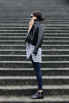 leather & gingham