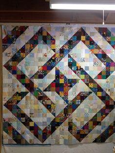 A split nine patch pattern.