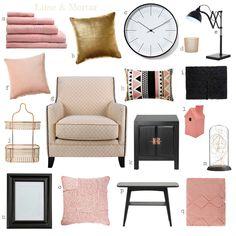 Lime & Mortar: Colour Pop: Pink, Gold & Black