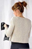 """Ma veste """"Rue de Seine"""" est tricotée au point de riz. #tricot #ladroguerie Crochet Stitches, Knit Crochet, Knit Vest, Point, Knitting Patterns, Feminine, Couture, Wool, Gilets"""