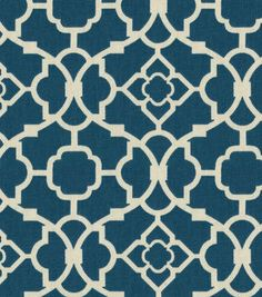 Home Decor Fabric-Waverly Lovely Lattice Lapis