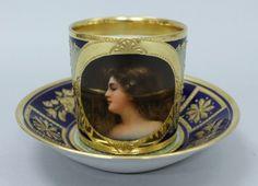 615: Royal Vienna Porcelain Demitasse Cup and Saucer : Lot 615