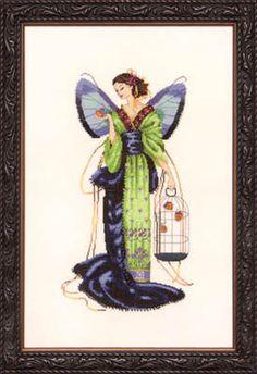 September Sapphire Fairy by Mirabilia cross stitch pattern