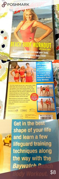 BAYWATCH Beach Body Workout Work out DVD filled with fun lifeguard related workouts for everyone! It's not to late to work on that summer bod! Brand new! Never opened. Swim Bikinis