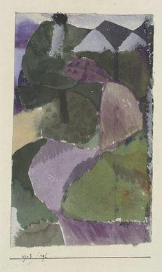 Paul Klee: Landschaft in Regenstimmung, (Landscape for a Rainy Mood) [my own attempt at translation] 1913.