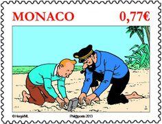 Émission monégasque en hommage à #Tintin le 21 novembre 2012 © Oetp-Monaco, DR.