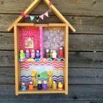 Turn a drawer into a dollhouse