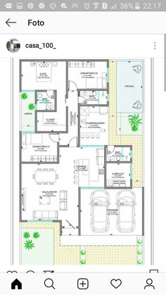 Simple House Plans, Best House Plans, House Floor Plans, House Layout Plans, House Layouts, Home Design Plans, Plan Design, Casas The Sims Freeplay, Villa Plan