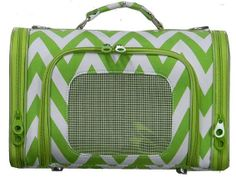 FREE SHIPPING Chevron Print Pet Carrier in by MonogrammedbyMeeMee, $44.00
