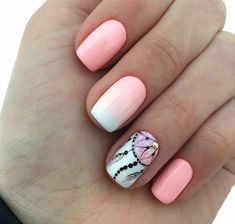 Photo, Photo Requires a little nail base creativity design for your short toenails N . Gem Nails, Love Nails, Pink Nails, Pink Nail Art, Nail Art Arabesque, Dream Catcher Nails, Summer Toe Nails, Tribal Nails, Fall Acrylic Nails