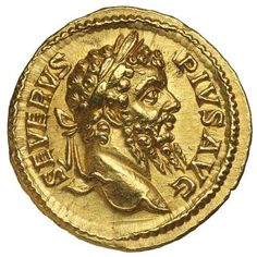 SEPTIMIUS SEVERUS, (A.D. 193-211), gold aureus... Realisation Price $25,500.00 AUD... Click VISIT to find out more and see 10,000+ Gold Coins at MAD On Collections. Please feel free to pin or share this coin. #GoldCoins