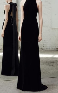 Greer Velvet Bow Gown by ALEX PERRY for Preorder on Moda Operandi