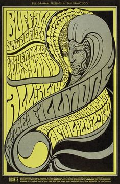 Buffalo Springfield Poster from Fillmore Auditorium (San Francisco, CA), Apr 28, 1967
