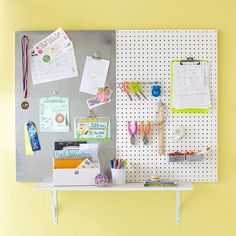 This command center is simple to make and works wherever you need it most -- in the kitchen, by the door, or in the family room.